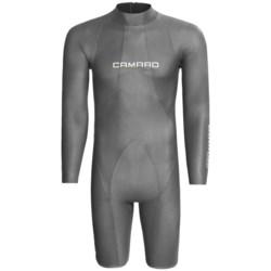 Camaro Mono Waterski Pro Shorty Wetsuit - Long Sleeve, 2mm (For Men) in Titamium