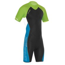 Camaro Mono Wave Shorty Wetsuit - UPF 50+, 3mm (For Men) in Black - Closeouts