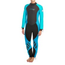 Camaro Omega Overall Wetsuit - 7mm (For Women) in Black/Blue - Closeouts