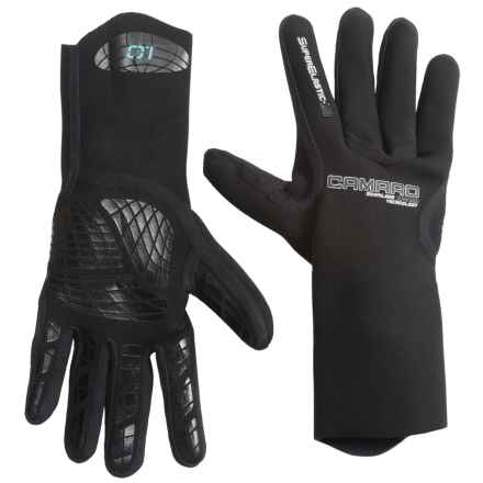 Camaro Seamless Dive Gloves - 1mm (For Men and Women) in Black - Closeouts