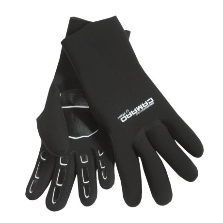Camaro Seamless Dive Gloves - 3mm (For Men and Women) in Black