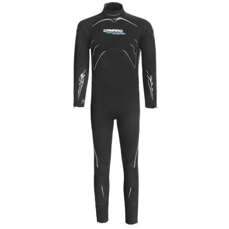 Camaro Semi-Dry Seamless Diving Wetsuit - 3mm (For Men) in Black