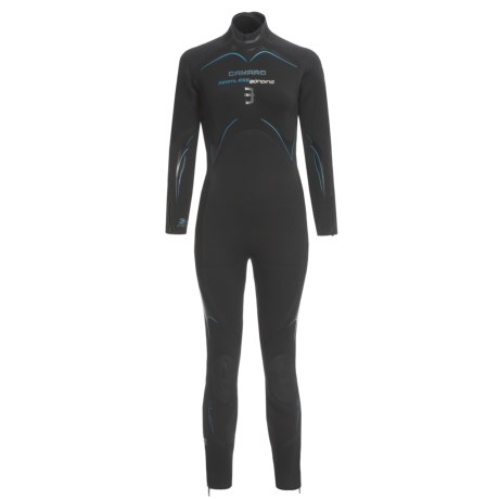 Camaro Semi-Dry Seamless Diving Wetsuit - 3mm (For Women) in Black/White/Blue