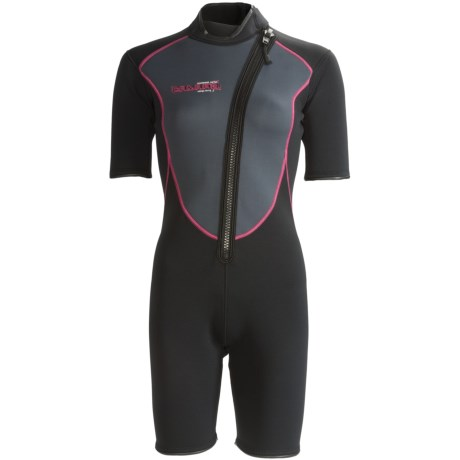Camaro Shorty Wetsuit - Mono Voltage, 3mm (For Women) in Black/Magenta