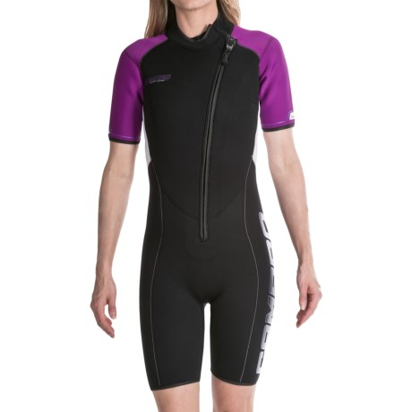 Camaro Shorty Wetsuit - Mono Voltage, 3mm (For Women)