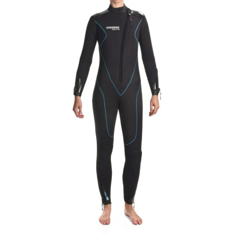 Camaro Stingray Diving Wetsuit - 5mm, Semi-Dry (For Women) in Black/Blue