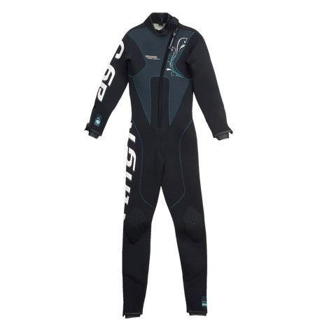 Camaro Stingray Diving Wetsuit - 5mm, Semi-Dry (For Women) in Black/Grey/Teal