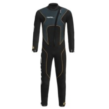 Camaro Stingray Semi-Dry Diving Wetsuit - 5mm (For Men) in Black/Grey/Orange - Closeouts