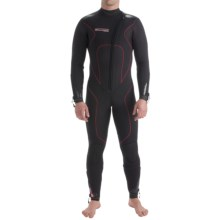 Camaro Stingray Semi-Dry Diving Wetsuit - 7mm (For Men) in Black/Grey/Red - Closeouts