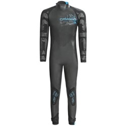 Camaro Supra Surfing Overall Wetsuit - 4/3/2mm (For Men) in Grey/Black/Blue