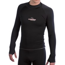 Camaro Surf Shirt -  2mm, Long Sleeve (For Men) in Black - Closeouts