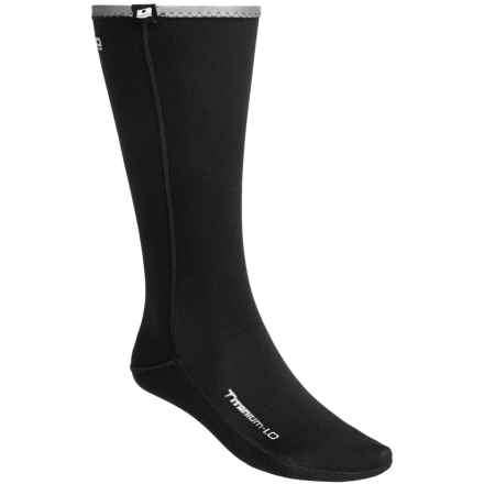 Camaro Thermo Longsocks - 1mm Neoprene (For Men and Women) in Black/Silver - Closeouts