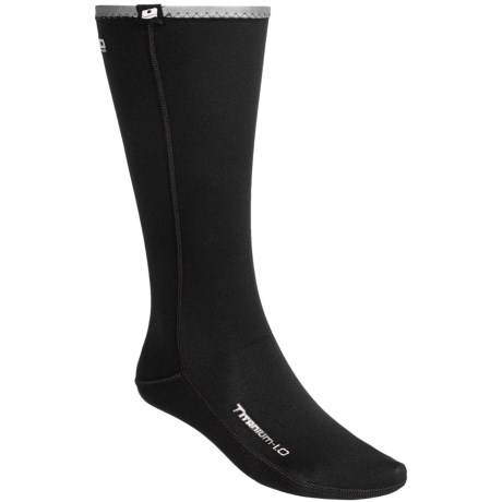 Camaro Thermo Longsocks - 1mm Neoprene (For Men and Women) in Black/Silver