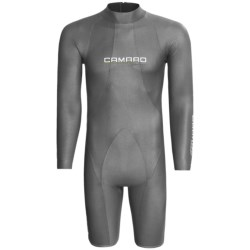 Camaro Titanium Mono Waterski Pro Shorty Wetsuit - Long Sleeve, 2mm (For Men) in Titamium
