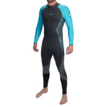 Camaro Titanium Overall Wetsuit - 1mm (For Men) in Black/Turquoise - Closeouts
