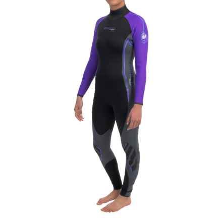Camaro Titanium Overall Wetsuit - 1mm (For Women) in Black/Purple - Closeouts