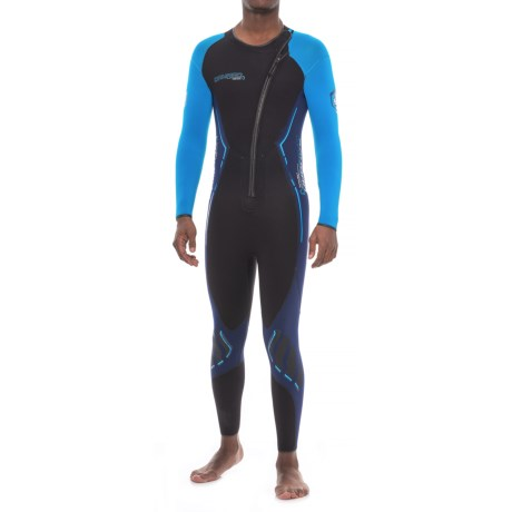 Camaro Titanium Overall Wetsuit - 3mm (For Men) in Black