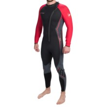 Camaro Titanium Overall Wetsuit - 5mm (For Men) in Black/Red - Closeouts