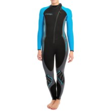 Camaro Titanium Overall Wetsuit - Diving, 3mm (For Women) in Black/Blue - Closeouts