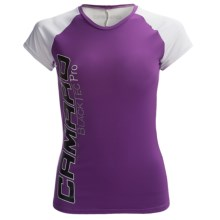 Camaro Ultradry Shirt - Short Sleeve (For Women) in Purple/White - Closeouts
