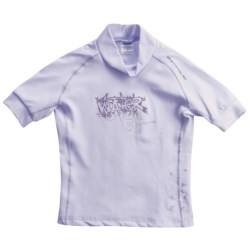 Camaro Water Angel Rash Guard - UPF 50+, Short Sleeve (For Girls) in Light Purple