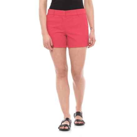 "Cambridge Dry Goods Slash Pocket Flat-Front Shorts - 4"" (For Women) in Nantucket Red - Closeouts"