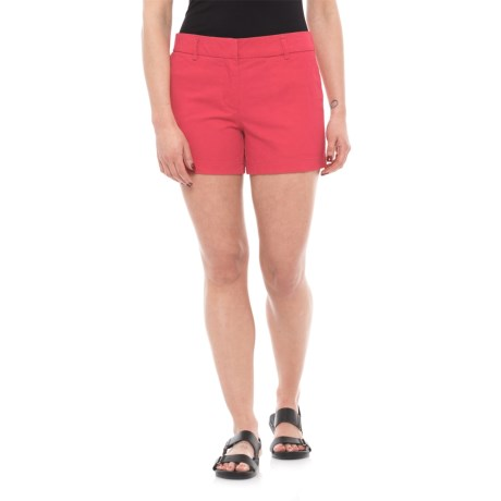 "Cambridge Dry Goods Slash Pocket Flat-Front Shorts - 4"" (For Women) in Nantucket Red"