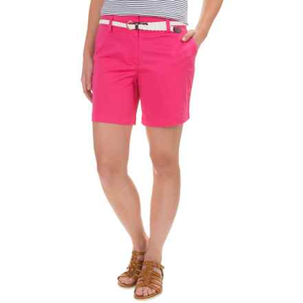 Cambridge Dry Goods Stretch Cotton Sateen Shorts (For Women) in Dragonfruit - Closeouts