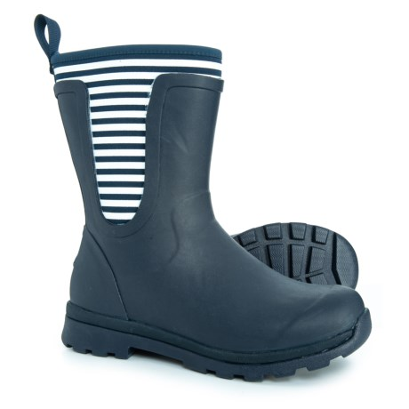 Image of Cambridge Mid Stripe Rain Boots - Waterproof, Insulated (For Women)