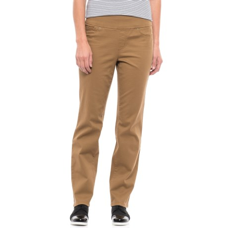 Cambridge Slim Fit Twill Pants (For Women) in Brown