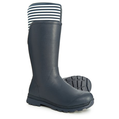 Image of Cambridge Tall Stripe Rain Boots - Waterproof (For Women)