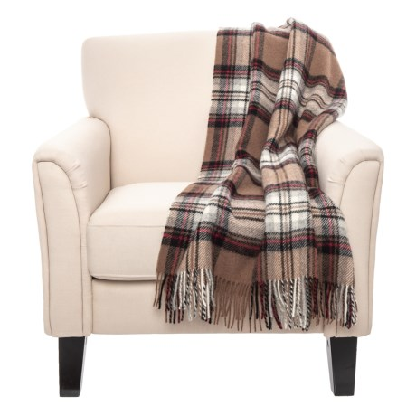 Image of Camel Stewart New Wool Throw Blanket - 55x72?