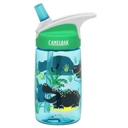 CamelBak Eddy Kids Water Bottle - BPA-Free, 13.5 fl.oz. in Hip Hippos - Closeouts