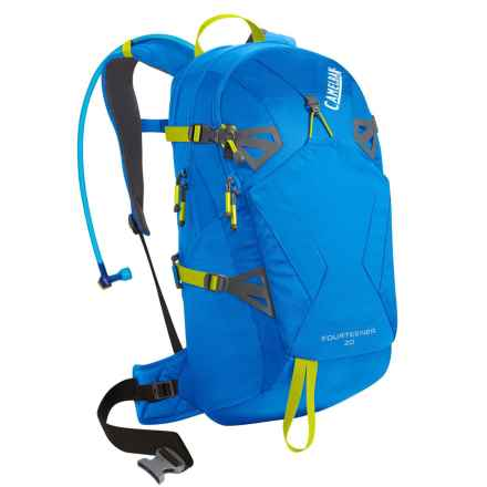 CamelBak Fourteener 20 Hydration Pack - 100 fl.oz. in Tahoe Blue/Lime Punch - Closeouts