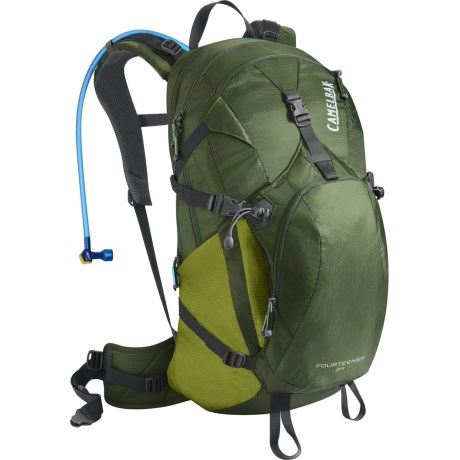 CamelBak Fourteener Hydration Pack - 100 fl.oz. in Deep Olive/ Woodbine