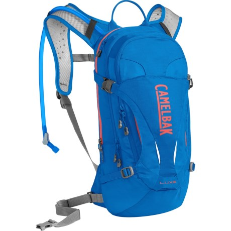 CamelBak L.U.X.E. 7L Hydration Pack - 100 fl.oz. (For Women) in Carve Blue/Fiery Coral