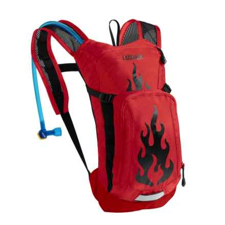 CamelBak Mini M.U.L.E. 1.5L Hydration Pack - 50 fl.oz. (For Big Kids) in Barbados Cherry Flames - Closeouts