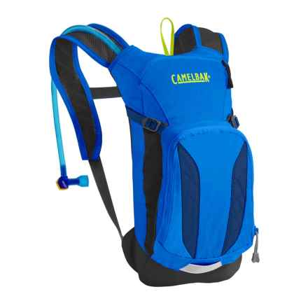 CamelBak Mini M.U.L.E. 1.5L Hydration Pack - 50 fl.oz. (For Big Kids) in Electric Blue/Poseidon - Closeouts