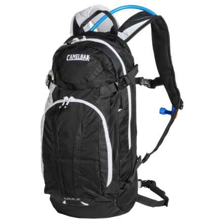 CamelBak M.U.L.E. Hydration Pack - 100 fl.oz. in Charcoal/Bright White - Closeouts
