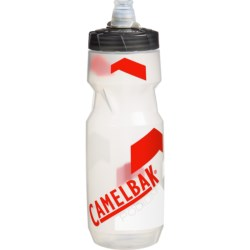 CamelBak Podium Water Bottle - 24 fl.oz. in Clear/Racing Red