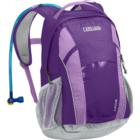 CamelBak Scout 17L Hydration Pack -  50 fl.oz. (For Kids) in Pansy/African Violet