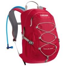 CamelBak Trailblazer 15 Hydration Pack - 50 fl.oz. (For Big Kids) in Pomegranate/Silver - Closeouts