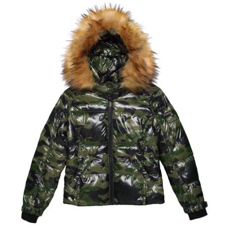 Image of Camo Faux-Fur Mogul Down Coat (For Big Girls)