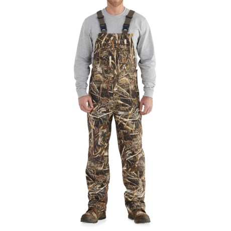 Camo Shoreline Bib Overalls - Waterproof, Factory 2nds (For Big and Tall Men)