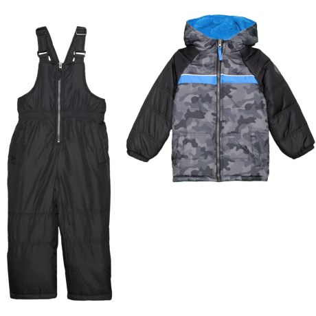 Image of Camo Snow Jacket and Snow Bibs Set - Insulated (For Toddler Boys)