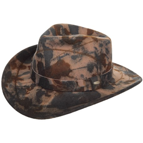 Image of Camo Wool Felt Outback Hat - Crushable (For Men)