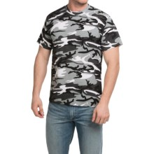 Camouflage T-Shirt - Short Sleeve (For Men and Women) in Black Camo - 2nds