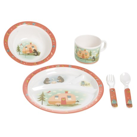 Camp Casual Camping Kids Outdoor Dish Set - 5-Piece Set in See Photo