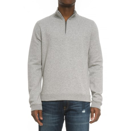 Camp David Prepster Knit Shirt - Zip Neck, Long Sleeve (For Men) in Oxford