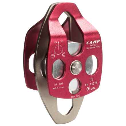 C.A.M.P. Large Mobile Double Pulley - Brass Bushing in Red - Closeouts